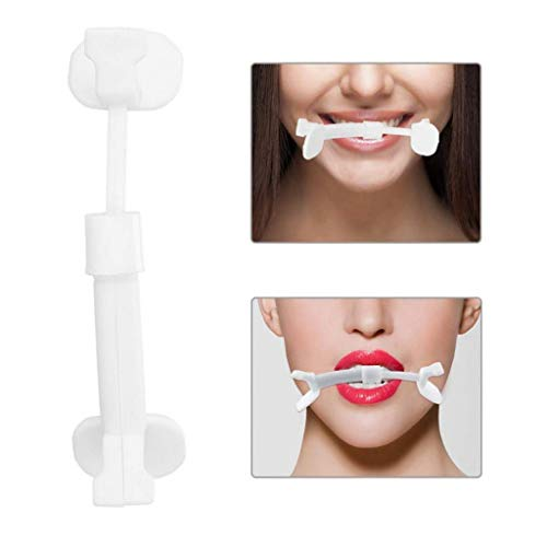 Slim Mouth Exercise Pieces for Face Lift, Facial Fitness Exercise and Toning Kit, Jaw Line Exercise Angel Lift Mouth Piece Facial Muscle Toner Machine with Nose Shaper Clip for Face Slimmer (White)