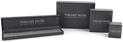 Tuscany Silver Collana con Pendente da Donna in Argento Sterling 925, con Zirconio Cubico, 45 cm
