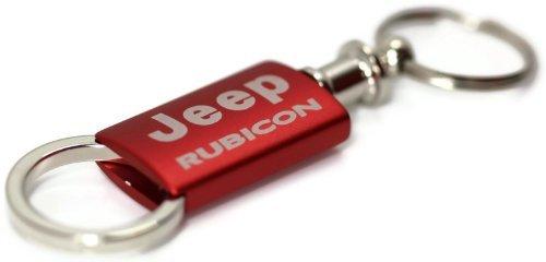 Jeep Rubicon Red Valet Key Fob Authentic Logo Key Chain Key Ring Keytag Lanyard DanteGTS