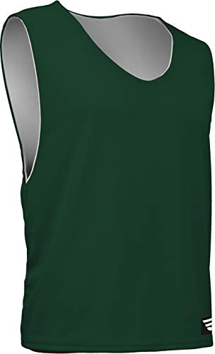 - AP-896Y-CB Youth Athletic Mesh Poly Round Neck Sleeveless Reversible Jersey (Youth Small, Forest Green)