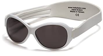 6a46a5655a4d Image Unavailable. Image not available for. Color: Kidz Banz Retro Banz  Oval Kidz Sunglasses, Arctic White by Baby Banz