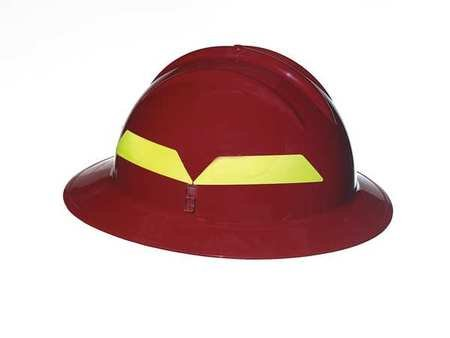 Fire Helmet, Red, Full-Brim by Bullard