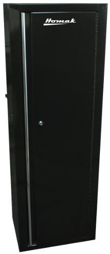 - Homak 41-Inch Professional Series 18-Inch Full Height Side Locker with 2-Drawer, Black, BK08041021