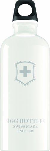 Sigg Swiss Emblem Water Bottle, 0.6-Liter, White by Sigg