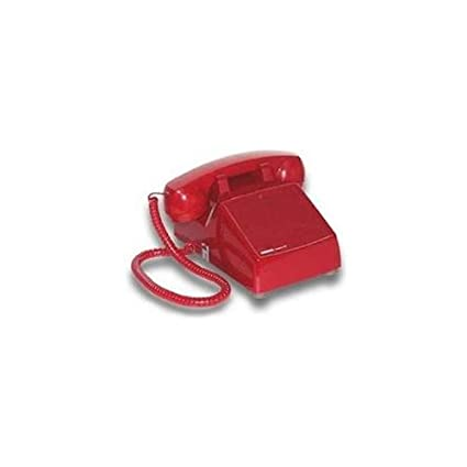 Amazon com : Viking Electronics RED No Dial Desk Phone (VK-K