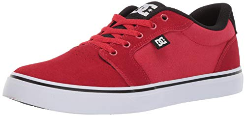 DC Men's Anvil Skate Shoe Black/red, 13 M US