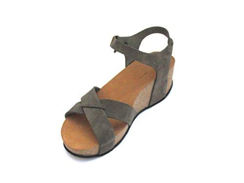 FRAU - Sandalias de vestir de Piel para mujer Gris Army