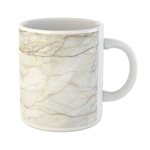 Semtomn Funny Coffee Mug Gray White Marble Abstract Floor Rustic Wall Aged Antique Architecture 11 Oz Ceramic Coffee Mugs Tea Cup Best Gift Or Souvenir ()