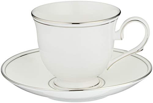 - Lenox Federal Platinum Tea Cup and Saucer, White