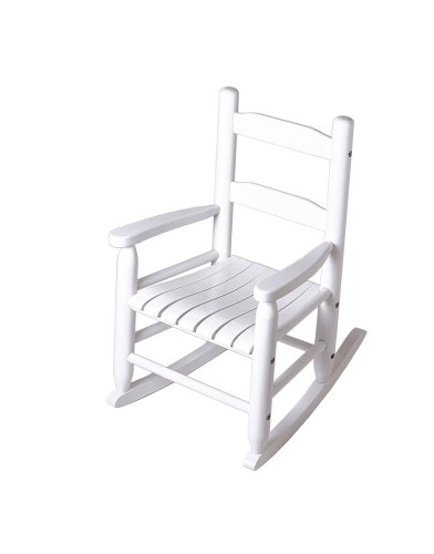 Lipper International 555W Child's Rocking Chair, - Chair Rocker 2 Slat Rocking