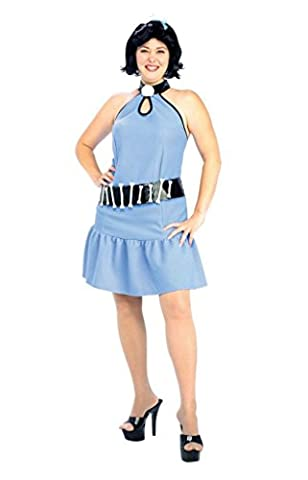 Rubies Womens Betty Rubble Flintstones Costume Halloween Themed Fancy Dress, Plus (16-20) - Flintstone Mask