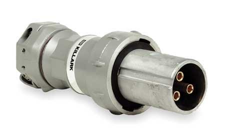 Killark VP10377 Pin and Sleeve Plug, 3 Wire, 3 Pole, 100 Amp, 600V, Copper-Free Aluminum