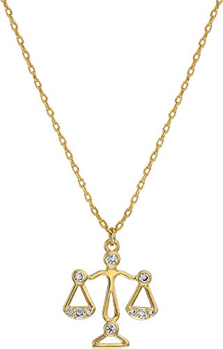 Kate Spade New York Women's Celestial Charm Libra Pendant Necklace Clear/Gold One Size ()