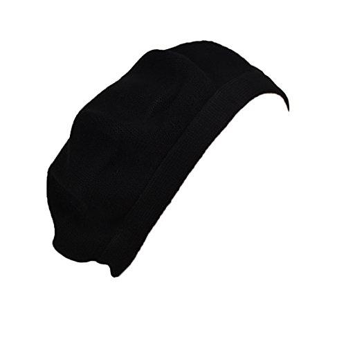 Landana Headscarves Beret for Women Cotton Flat Band Solid - Black by Landana Headscarves (Image #2)