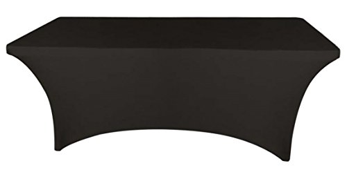 Banquet Tables Pro Black 6 ft. Rectangular Stretch Spandex Tablecloth