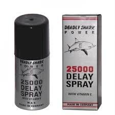 Deadly Shark 25000 Delay Spray for Men with Vitamin E - --