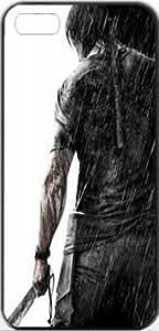 Rambo Movie Posters Rambo Stalone Apple iPhone 5/5s SLIM Case Carcasa [SF Matte Black (negro)] SUPER SLIM + SF COATED + PERFECT FIT Caso duro Premium Funda Cáscara Caso Cubrir