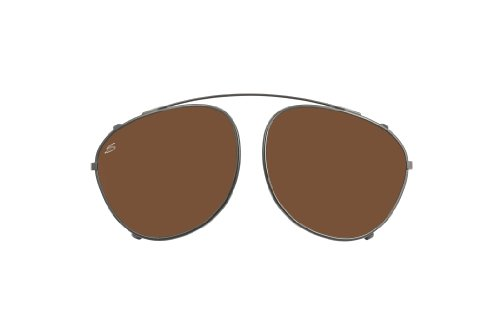 Serengeti 8057 Palmiro Clip Sunglass, Shiny Dark Gunmetal Frame Lens, Polar PHD Drivers - Sunglasses Darkening