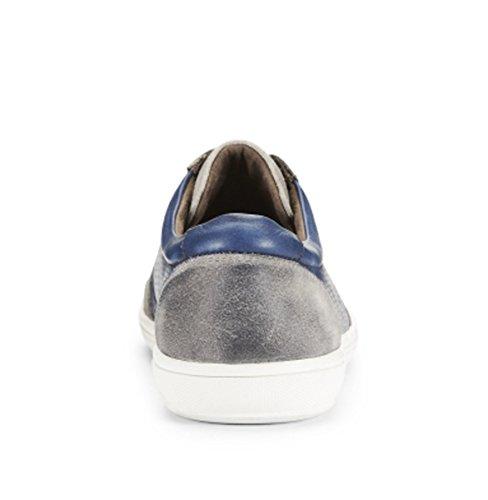 Kenneth Cole Mens Schreeuwt Lederen Sneaker, Blauw 9,5 M