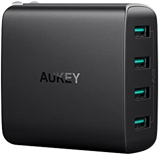 Aukey PA-U48 40W 4-Port USB Wall Charger with Foldable Plug