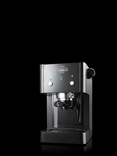 Gaggia GranGaggia Style Black Macchina Manuale per il Caffè Espresso, per Macinato e Cialde, 15 bar, Colore Nero, RI8423… 4