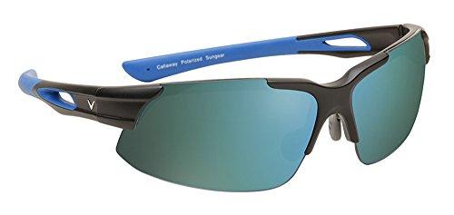 Callaway  Sungear Peregrine Golf Sunglasses - Matte Black Plastic Frame, Gray Lens w/Green - Sunglasses Callaway