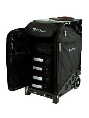 ZUCA Pro Artist Case - Black Insert Bag in Black Frame, with Travel Cover and 4 Vinyl Utility Pouches 600d Nylon Luggage Set