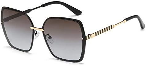 Lunettes De Soleil Homme De Soleil Polarisées Lunettes De Soleil Metal Frame Uv Protection Polarized Ladies Sunglasses-Section E
