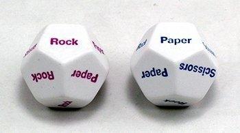 Rock Paper Scissors d12 Dice (2) for $<!--$6.48-->