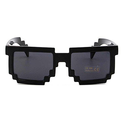 pour de Juleya Lunettes Femme Paquet Lunettes Lunettes soleil 3 Pixel et soleil de lunettes Noir fête C Enfant déguisements la soleil de de de Homme pixel Idéal xRXq8Ydq