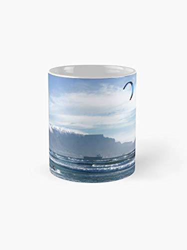 Kite Surfing In Cape Town South Africa 11oz Mug - Great gift for family and friends.