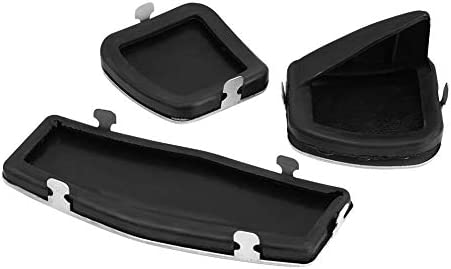 3pcs Keenso for Manual Vehicle Car Clutch Brake Foot Pedals Cover Treadle Non-Slip Pedal Pads Manual Clutch Pedal for Chevrolet Cruz Vauxhall