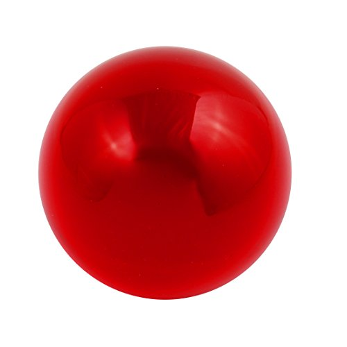 uxcell 30mm Diameter Solid Round Acrylic Sphere Plexiglass Ball Ornament Ture Red