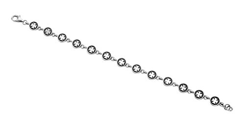 Wild Things Sterling Silver Pattee Cross Button Link 8.5'' Bracelet by Wild Things (Image #2)