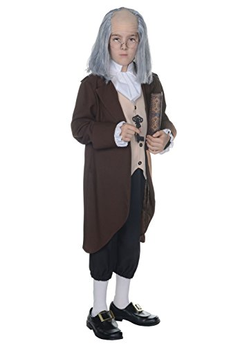 Franklin Benjamin Child Costumes (Big Boys' Benjamin Franklin Costume -)