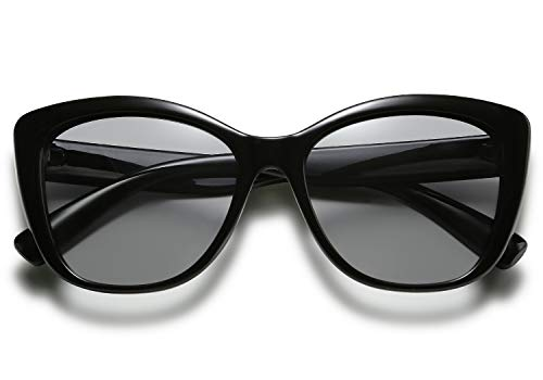 FEISEDY Polarized Vintage Sunglasses American Square Jackie O Cat Eye Sunglasses B2451 (Z Photochromic Lenses, ()
