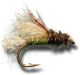 Olive Fly Fishing Fly Z-Wing Caddis Emerger