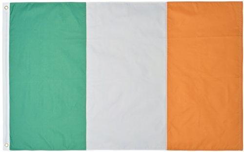 Green Grove Products Ireland Flag 3' x 5' Ft 210D Nylon Premium Outdoor Irish Flag -