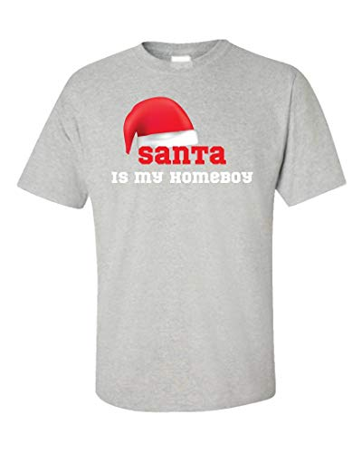 Volume Tee Santa is My Homeboy Cool Christmas Design - Unisex T-Shirt Ash Grey
