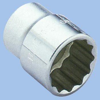 12.7mm (1/2インチ) KTC ディープソケット (十二角) (ケーテーシー) 24mm B4L24W