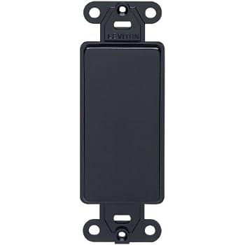 Leviton 80414 E Decora Plastic Adapter Plate Blank No