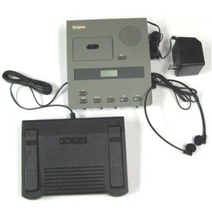 Dictaphone 3740 Microcassette Transcriber --- Complete with Foot Control and Comfort-Fit Headset