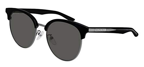 Balenciaga BB0020SK Sunglasses 001 Black/Grey Lens 55 mm