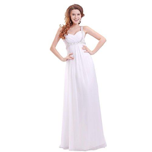 Dearta Wedding Neck Sleeveless Floor Dresses Women's V Empire Ivory Length far0f