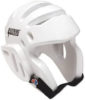 ProForce Lightning Sparring Head Guard / Headgear - 白い Medium 1 packs
