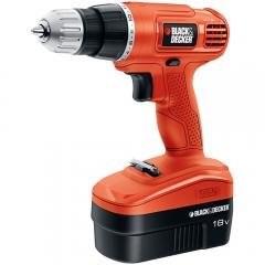 Black & Decker 18-Volt Ni-Cad 3/8-Inch Cordless Drill/Driver with Storage Bag and Stud Sensor