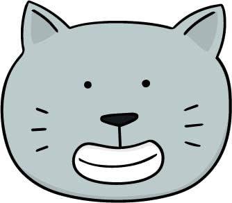 Amazon Com Cute Simple Kawaii Kitty Cat Face Cartoon Emoji Vinyl