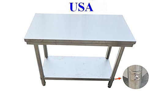 Stainless Steel Work Table Commercial Kitchen New