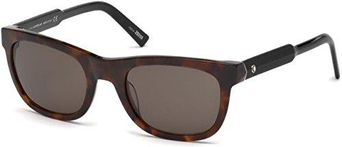 3523cb3dc6c9 Sunglasses Montblanc MB 652 S 52E dark havana   brown  Amazon.co.uk   Clothing