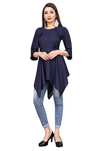 RITSHA Casual Bell Sleeve Solid Women Top